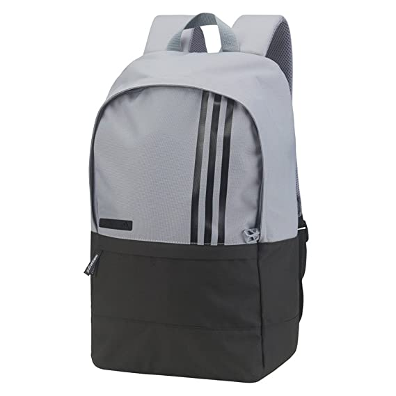 Adidas 3-Stripes Small Backpack Grey Black  Amazon.co.uk  Clothing fd5a15155f