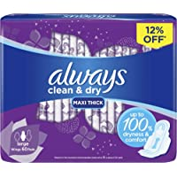 Always Clean & Dry Maxi Thick, Large sanitary pads, 60 pads