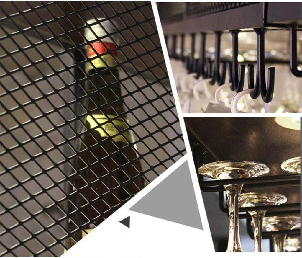 YSDHE ホームバーワイングラスは、キャビネットワインラック/天井がワインボトルホルダーメタルアイアンワイングラスホルダーハイカップホルダーハンギングラックマウント/高さ調節 (Size : 180×30×40cm)
