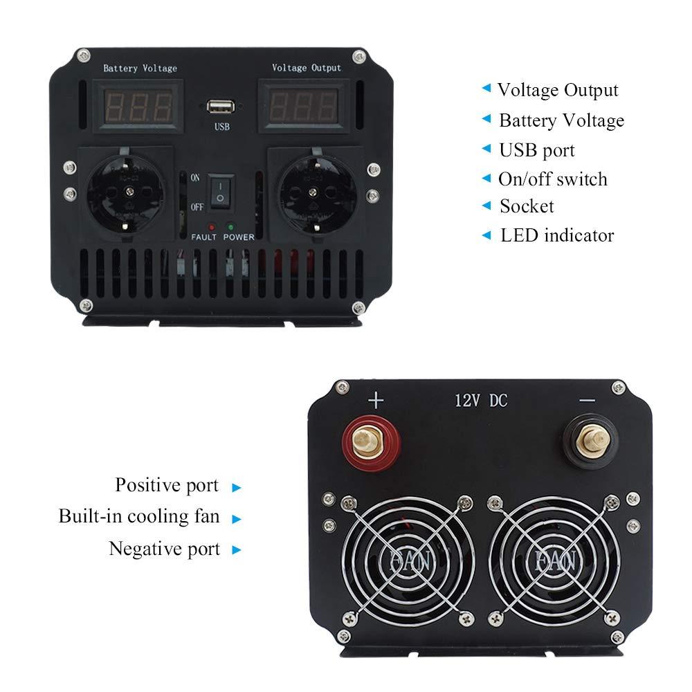 Yinleader inversor de Corriente Onda Pura 3000W Pico 6000W ...