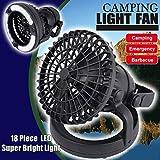 Camping fan, WinnerEco Outdoor tents lights fan lights camping lights manufacturers 18LED fan ligh