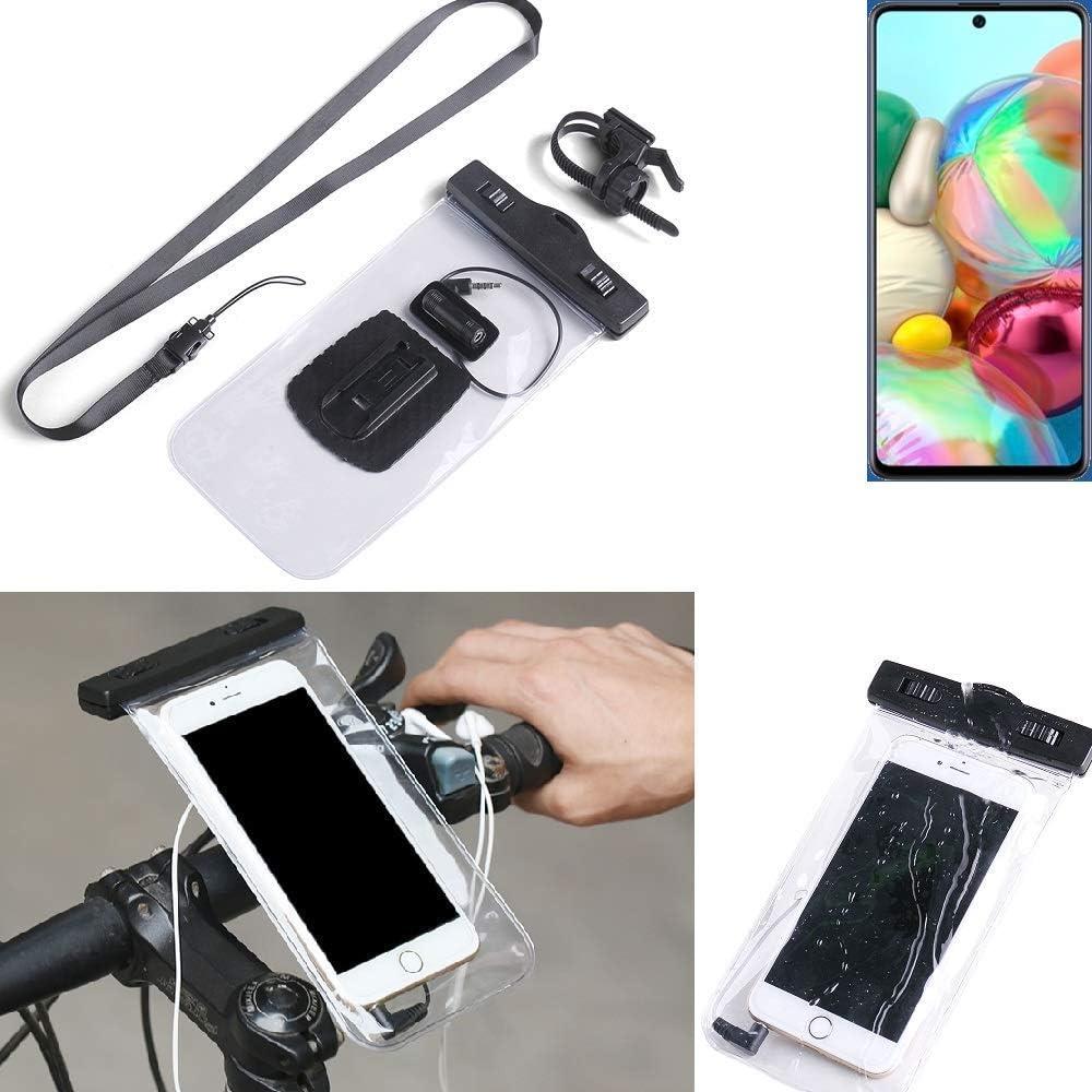 Fahrrad Halterung für Samsung Galaxy A71 5G Rahmenhalter Fahrradtasche Rahmenta