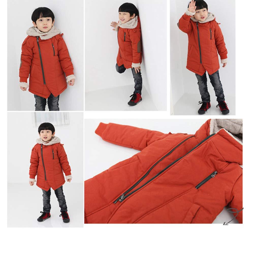 Winter Warm Pretty Fashion Diagonal Zipper Hoodie Jacket XFentech Boys Coat
