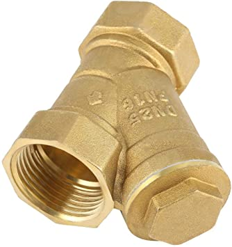 Valve Connector Brass Connector for Water Oil Separation 1 BSPP Female Thread Y Shaped Brass Strainer Filter
