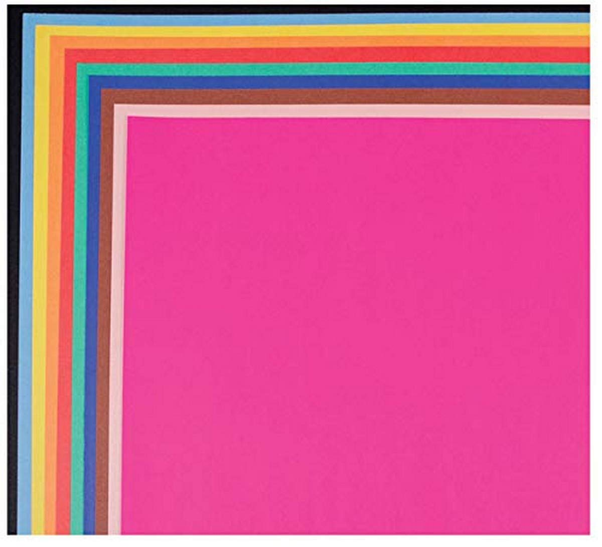 """School Smart 1485739 Railroad Board, 4-ply Thickness, 22"""" x 28"""", Assorted Color (Pack of 25)"""