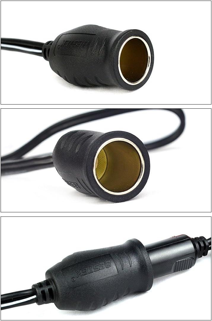 12V Batería de coche Socket Adaptador para encendedor de cigarrillos con pinzas de cocodrilo ocio Reino Unido