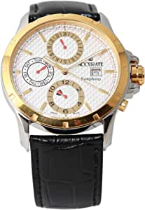 Casual Watch for Men by Accurate, Multi Color, Oval, AMQ1758TL