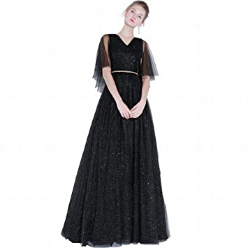 YT-RE Vestido de Fiesta Banquete Mujer Vestido de Noche Largo Delgado Ángel Vestido de