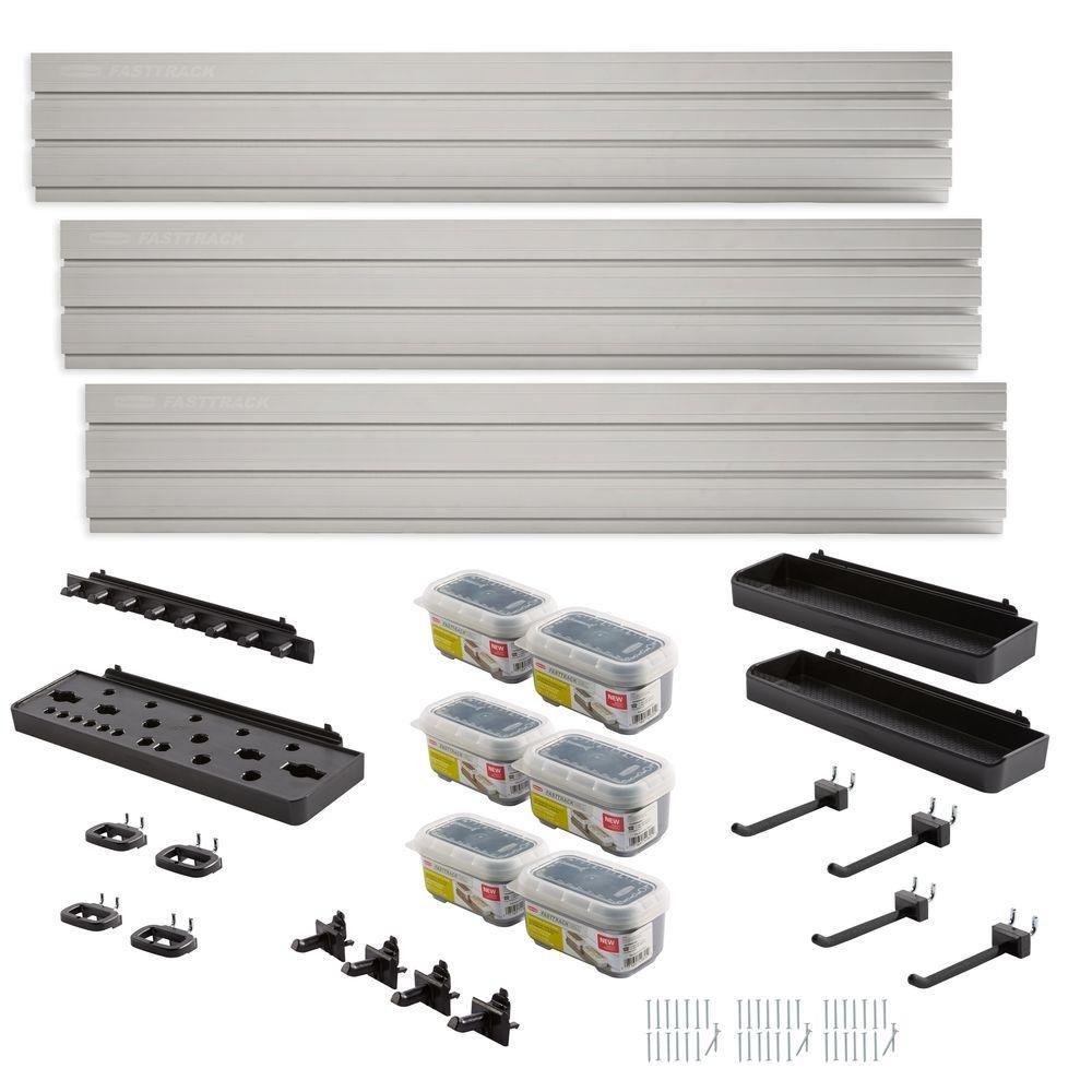 Rubbermaid FastTrack Garage Wall Panel Starter Kit (23-Piece)