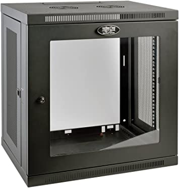 Amazon Com Tripp Lite 12u Wall Mount Rack Enclosure Server Cabinet With Acrylic Glass Window 16 5 Deep Switch Depth Srw12ug Black Computers Accessories