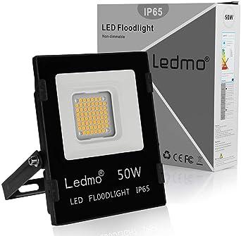 LEDMO foco led 50W 2700k focos led exterior blanco cálido SMD3030 ...