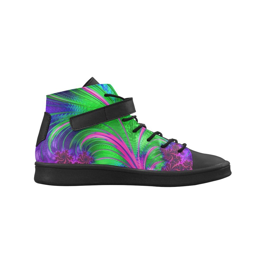 High Top Shoes D-Story Round Toe Pattern Arts Womens Sneakers