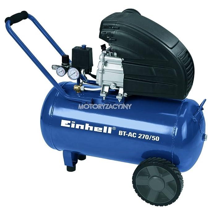 Einhell BT-AC 270/50 - aerosol de aire comprimido (32 kg) Negro, Azul: Amazon.es: Bricolaje y herramientas
