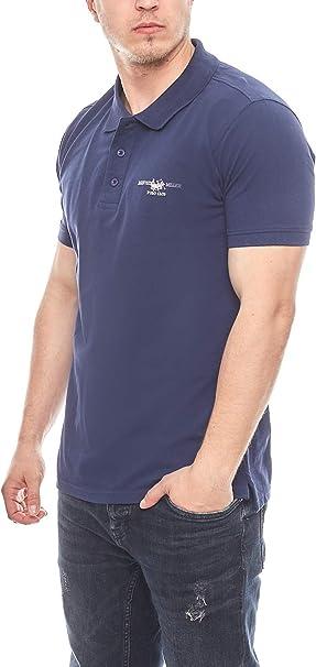 HARVEY MILLER POLO CLUB Polo clásico para Hombre Azul Marino