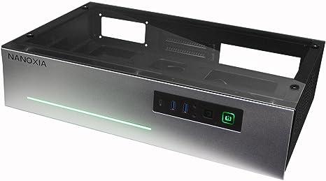 Nanoxia Project S Mini – Caja de Plata, HTPC, Mini-ITX, Tapa de ...