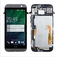 jiujinyi HTC M8 para Pantalla Digitalizador táctil reemplazo & LCD Replacement Touch Screen Digitizer Display Assembly (Gris + Marco)