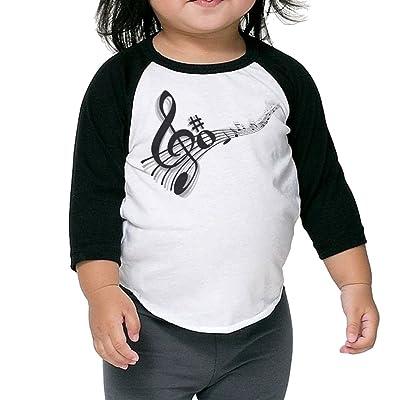 XHX Musicial Note Unisex Children 3/4 Sleeve Raglan T Shirt Tee