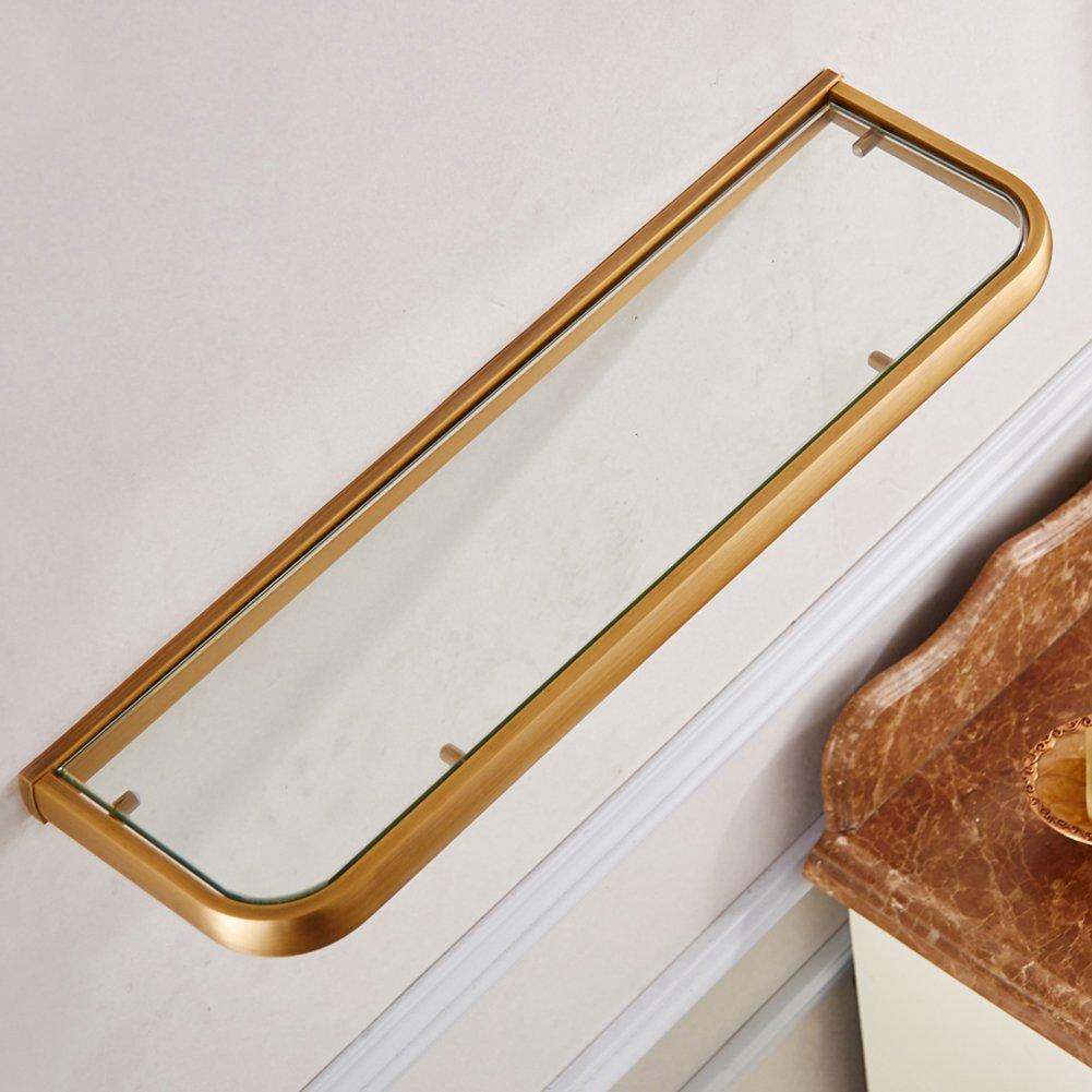 WINCASEアンティーク真鍮仕上げフラットシングルタオルバー壁マウントBath Robeホルダーヴィンテージデザインバスルームアクセサリー24インチ B07413HXM3 Glass Bathroom Shelf Glass Bathroom Shelf