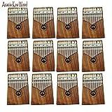 AXHJ Kalimba 17 keys with Instruction and Tune Hammer, Portable Thumb Piano Mbira Sanza Acacia Koa Wood Body Ore Metal Tines 1 Piece