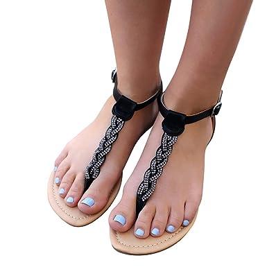 9c16db045 Amazon.com  Women Summer Flat Sandals Shoes