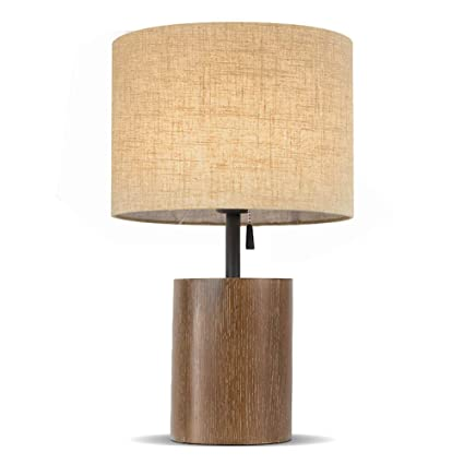 Amazon.com: X&YY Wood Base Table Lamp - Iron Pole with Iron ...