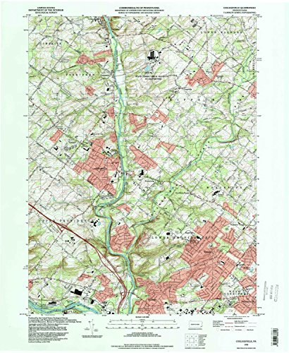 Collegeville PA topo map, 1:24000 scale, 7.5 X 7.5 Minute, Historical, 1992, updated 1998, 26.9 x 22.1 IN - - Providence 1 Place