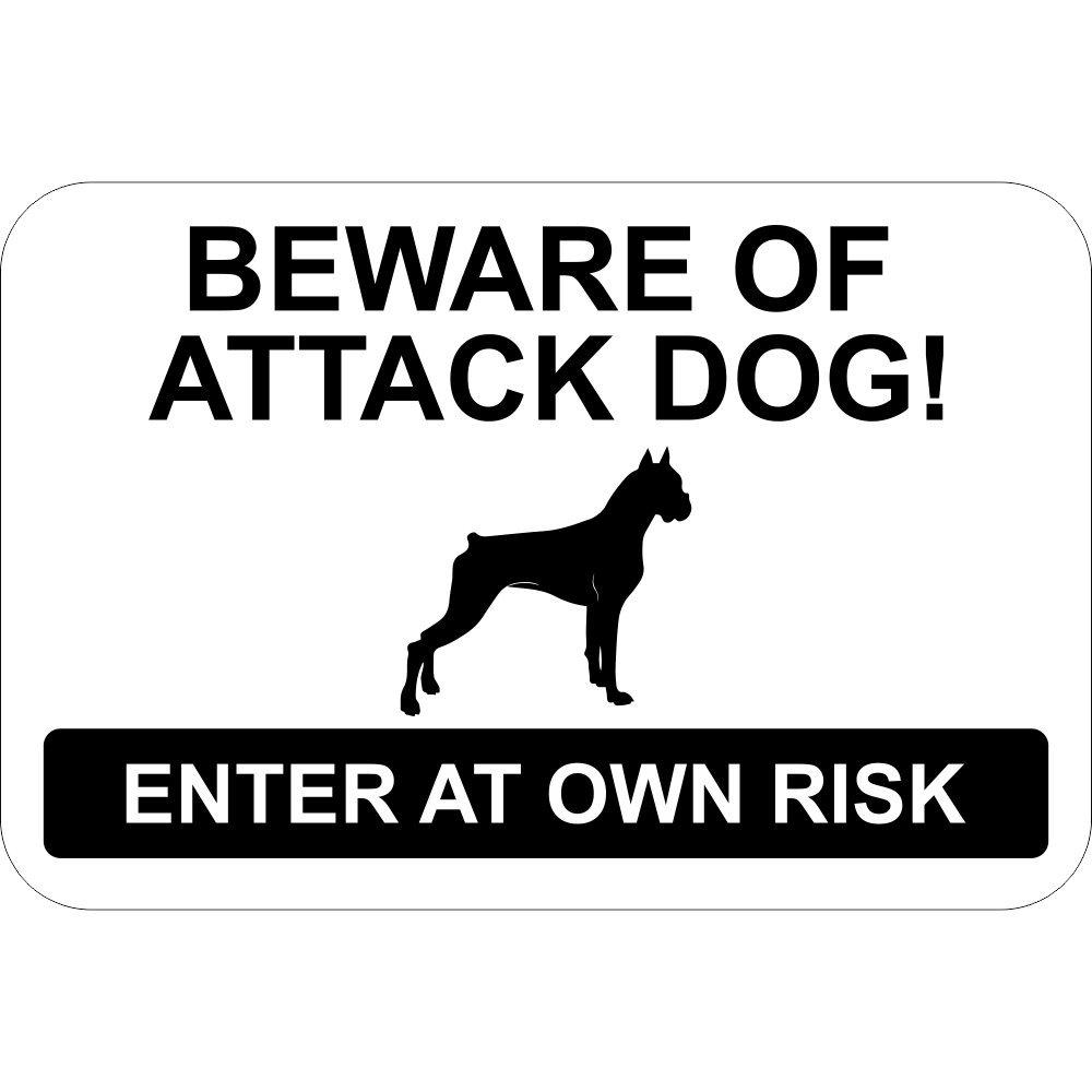Cuidado de perro de ataque cartel - entrar en propio riesgo ...