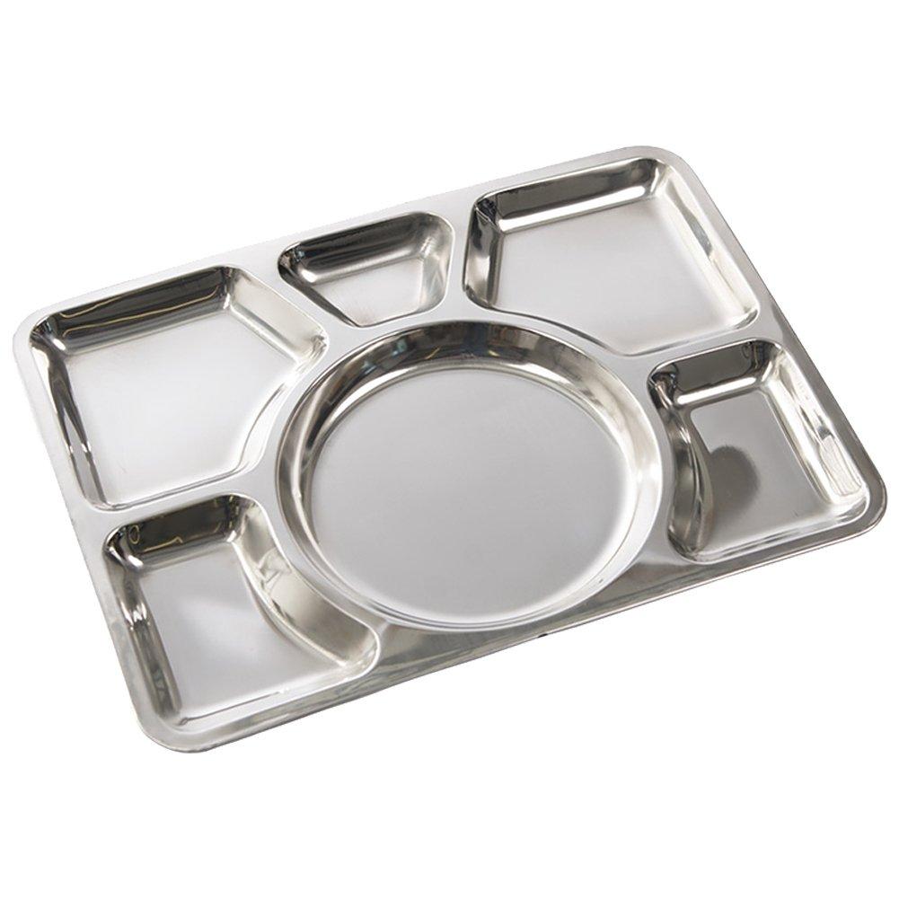 Placa Canteen s//steel 6-compartimento
