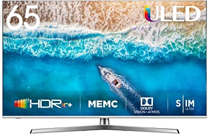 Hisense H65U7BE - Smart TV ULED 65 4K Ultra HD con Alexa Integrada, Bluetooth, Dolby Vision HDR,