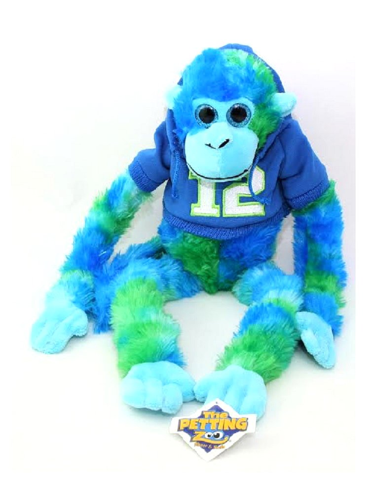 Seattle Believe 12 ManファンチームプライドブームGear Plush Monkey Toyブルー   B01M2U2TCA