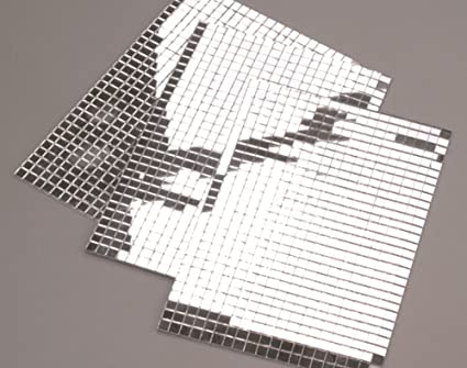 600 Small Silver Self Adhesive Mirror Mosaic Tiles Amazoncouk