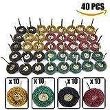 ZhuTook 25 mm Abrasive Polishing Buffing Wheels Set 40 Pcs,Polishers Buffers Tool Kit for Dremel Rotary Tool - 3.0mm/ 1/8 inch Shank