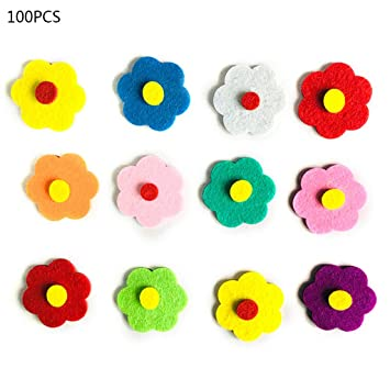 Amazon Com Liumikk 100pcs Diy Felt Flowers Fabric Petals