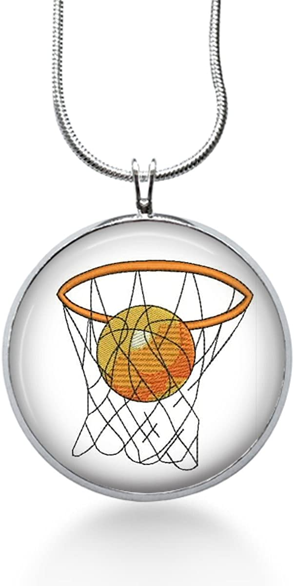 sports Pendant Hoops gifts for Teens Basketball Necklace