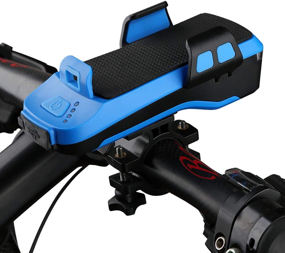 4 in 1 Multifunctional Bike Front Light Bicycle Headlight LED USB Rechargeable