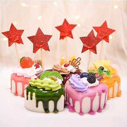 5 piezas de adornos para magdalenas de estrella para tartas ...