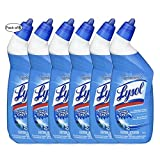 Lysol Toilet Bowl Cleaner, Country, Bleach, Power, Deep Reach, Power & Free, Spring Waterfall (2 Count, Spring Waterfall) (Pack Of 6)