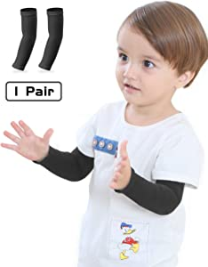 Newbyinn Arm Sleeves for Kids, Child 1 Pair/ 3 Pairs, UPF 50 UV Sun Protection Cooling Sleeves to Cover Arms for Girls, Boys, Babies, Toddlers, Children
