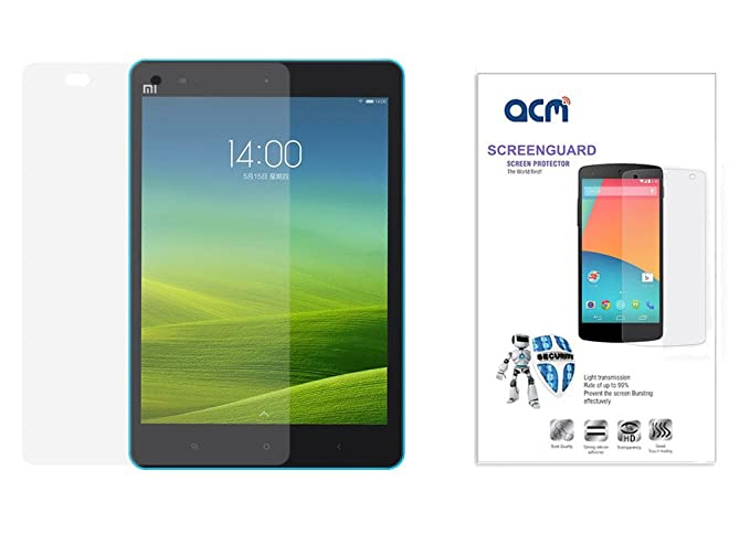 Acm Clear Screenguard Compatible with Xiaomi Mipad Tablet Screen Guard Scratch Protector Tablet Accessories