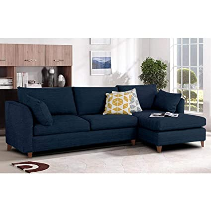 Sensational Furny Farina Spacious Four Seater Sectional Sofa Dark Blue Gmtry Best Dining Table And Chair Ideas Images Gmtryco