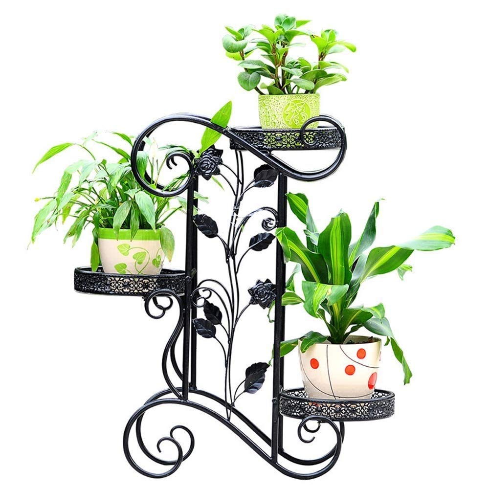 Amazon.com: Creative Iron 3-Layer Flower Stand Simple ...