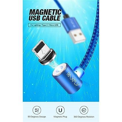 YAOkxin Cable de Carga del Cargador magnético Lateral para ...