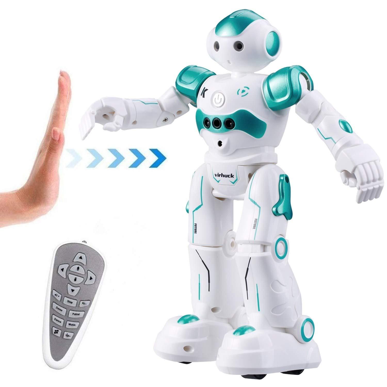 Vindany Inteligente RC Robot Juguete Control Remoto Gesto Robot Kit con programaci/ón Intelectual Negro Cantando y Bailando Robots Recargables multifuncionales para ni/ños