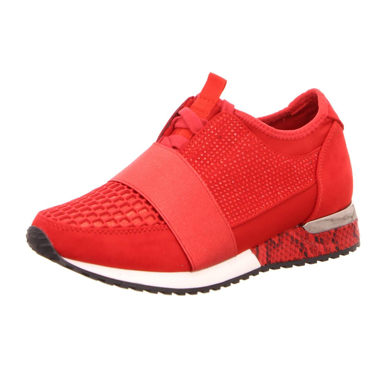 Mujeres Zapatos con Cordones Lycra Red Rojo, 1705308-4030 Lycra Red