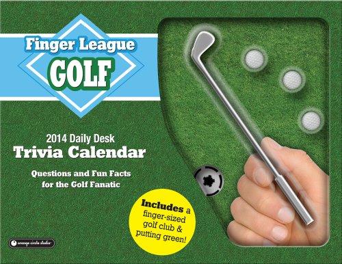Executive Desk Calendar Box - Orange Circle Studio 2014 Finger League Daily Desk Calendar, Golf (11528)