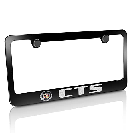 Amazon.com: Cadillac CTS Black License Plate Frame: Automotive