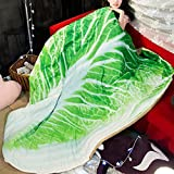 Koongso 3D Food Funny Blanket Bedding Cabbage Shaped Summer Quilt Cute Comforter Washable Light Quilt