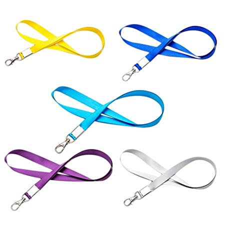 lumanuby 5 correas con cordón para tarjeta de identificación en el cuello de para el Trabajo para Tarjeta, Insignia, cordón de soporte para el cuello ...