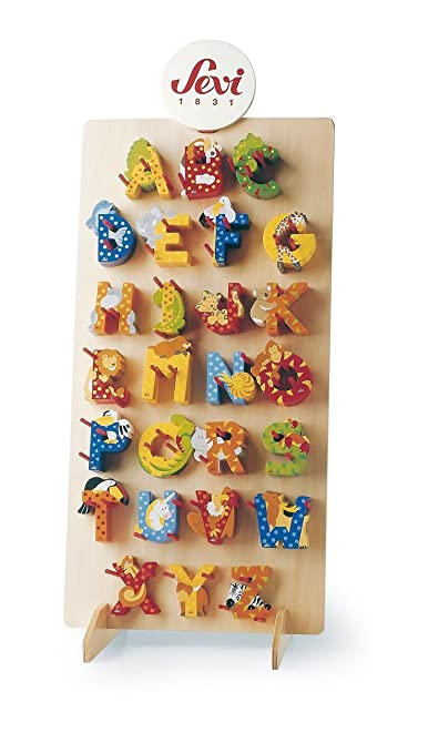 3 Sevi Holzbuchstaben Tiere für Wunschname inkl Geschenkverpackung ...