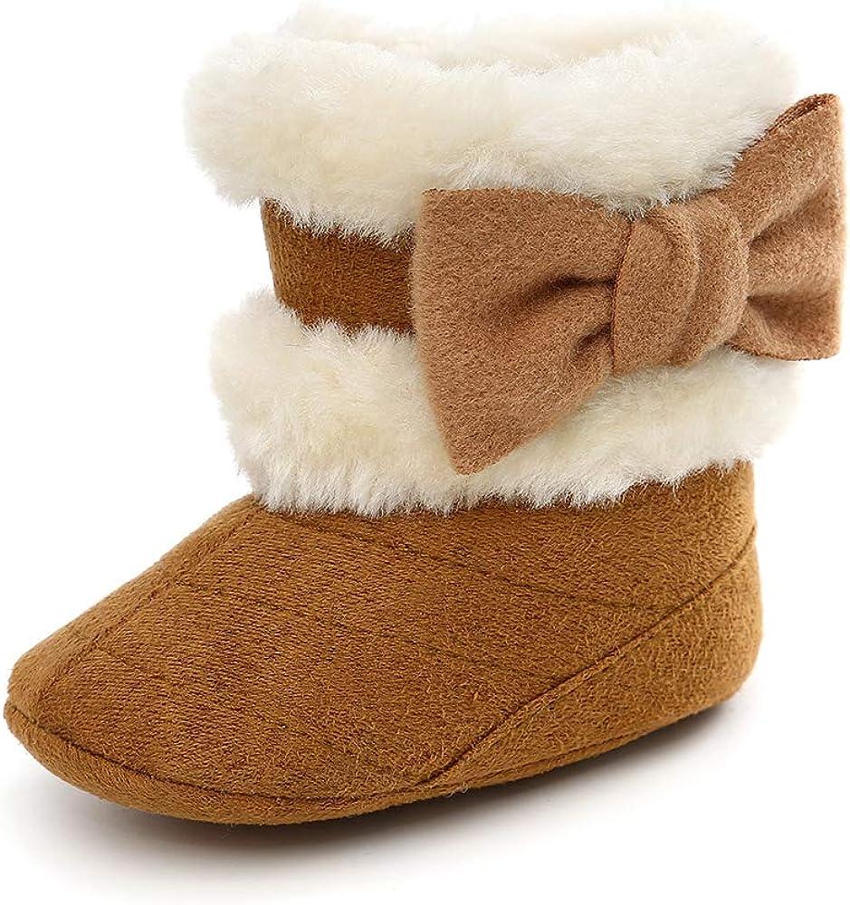 ESTAMICO Baby Girl Plush Winter Snow